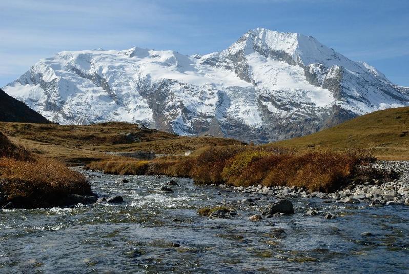 Dôme de la Sache ; Mont Pourri ; Mont Turia depuis le vallon du Clou
